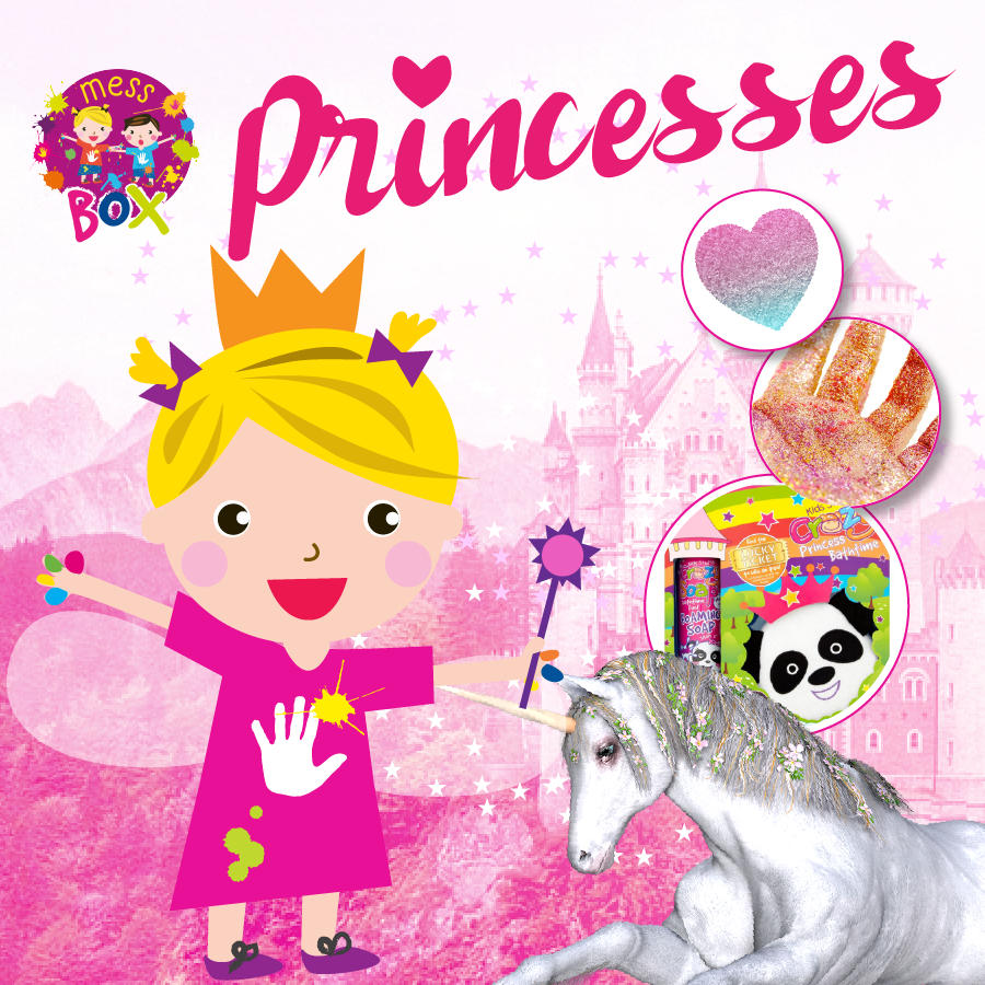 Princesses messy play box